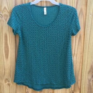 LulaRoe Classic T Textured Short Sleeve Top